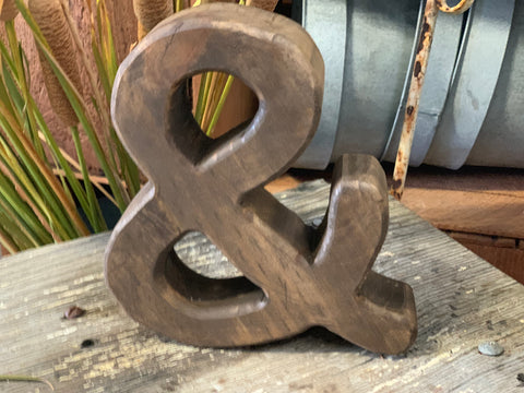 Handmade Timber Ampersand