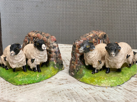 Cast Iron Sheep Bookends