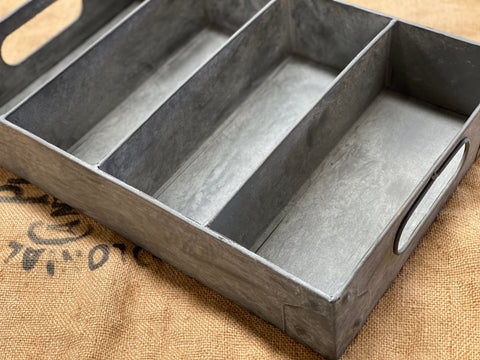 Zinc Cutlery Tray or WALL Shelf