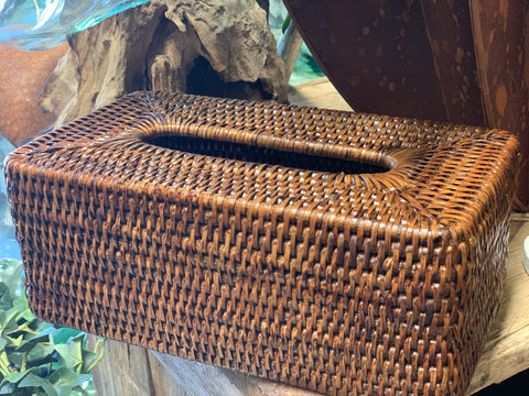 Rattan Tissue Box Cover