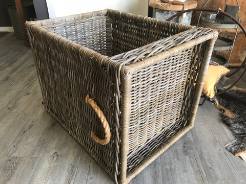 Wood Storage Basket or Bedside Table