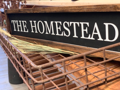 The Homestead Sign