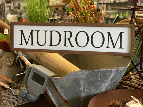 MUDROOM Handmade Sign