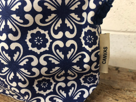 Blue Tile Toiletry Bag
