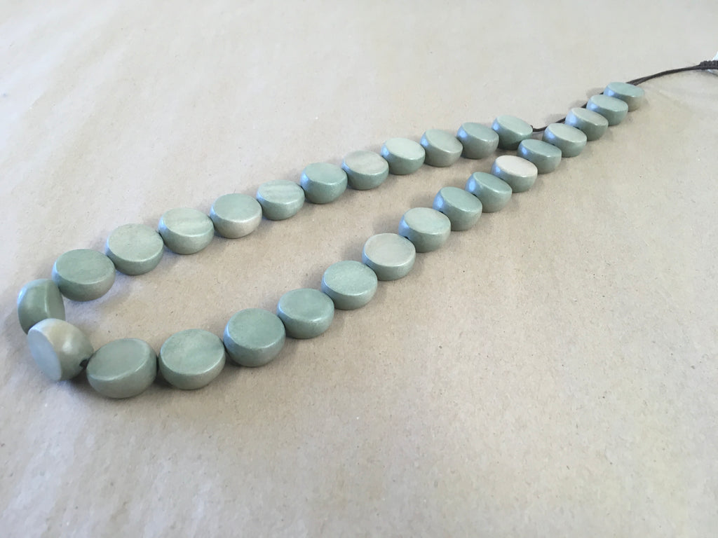 Large Bead Slate Cool Coconut Necklace