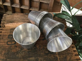 SET of 8 Small Vintage Aluminium Cups