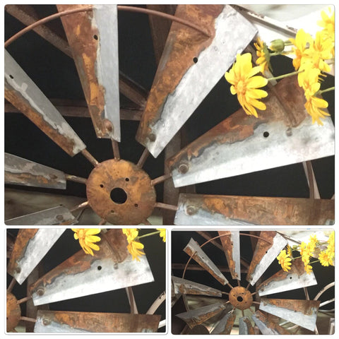 "NEW ""RUSTIC"" TIN Windmill Wall Art"