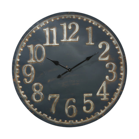 BLUE SLATE Metal Clock ORDER NOW