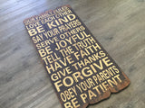 HUGE 100cm Be KIND Timber Sign
