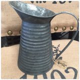Antique Zinc Ripple Jug
