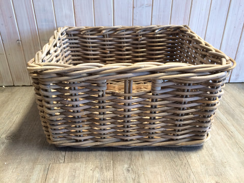 Rectangle Grey Rattan Basket