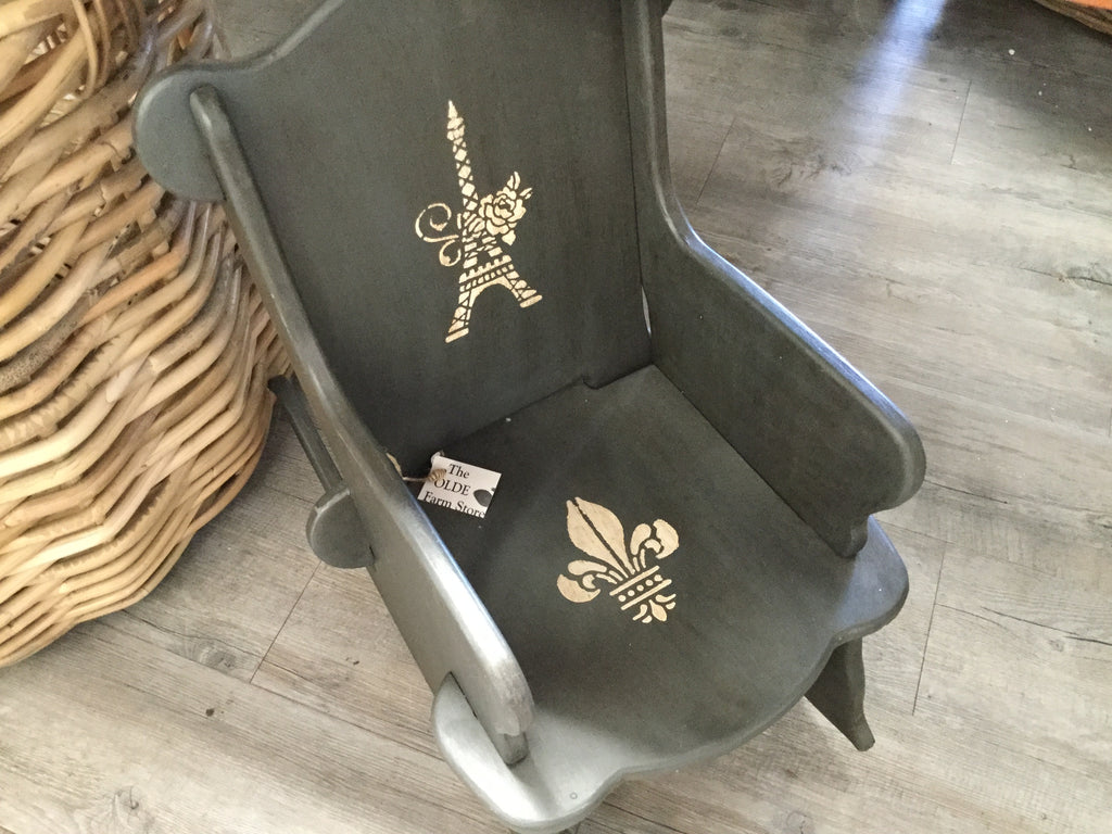 Chalk Painted Child's Rocking Chair