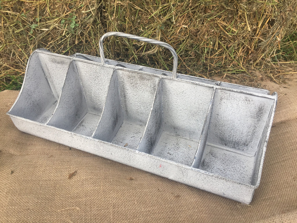 XL French Metal Storage Tray with Handle