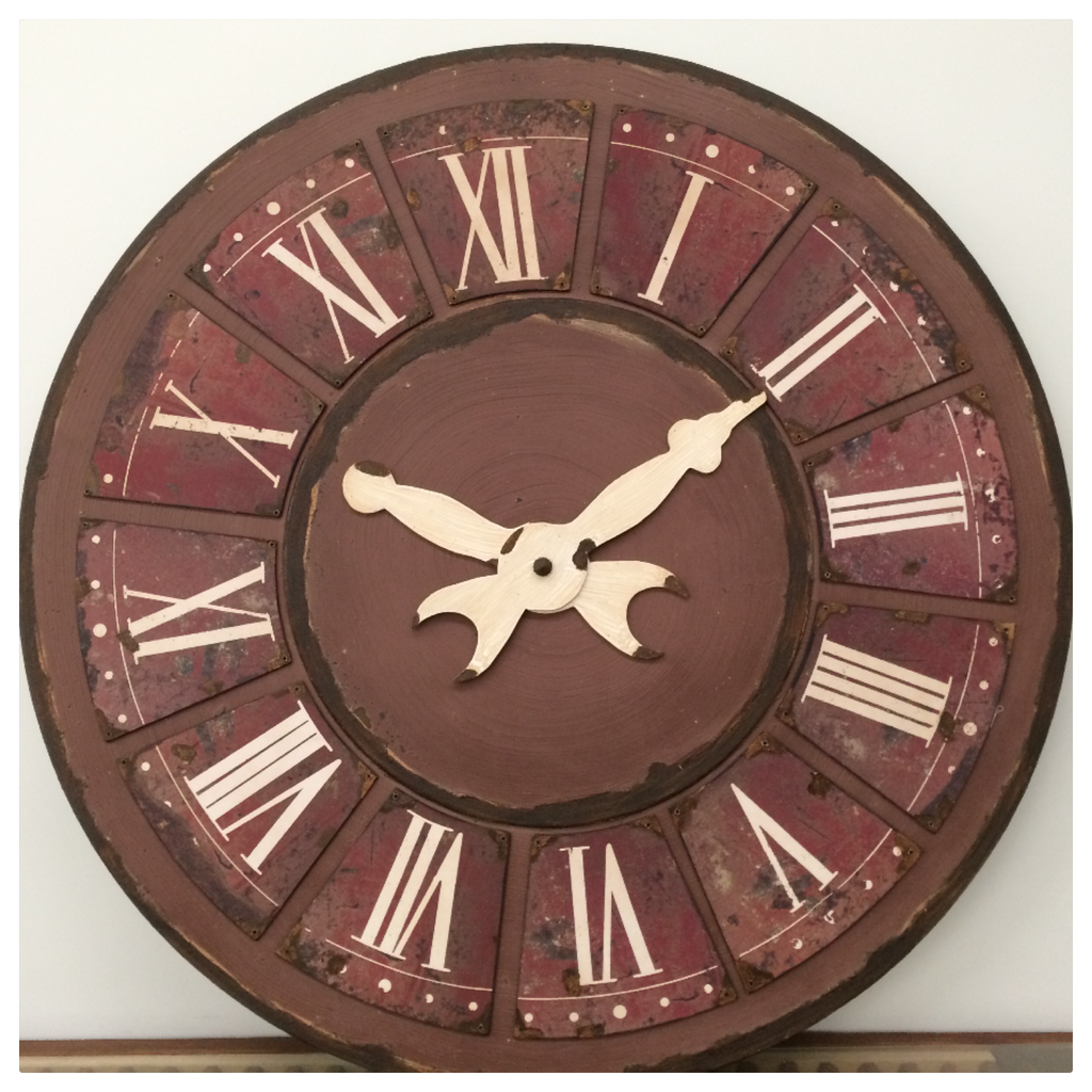 MASSIVE Vintage Red CLOCK 119cm