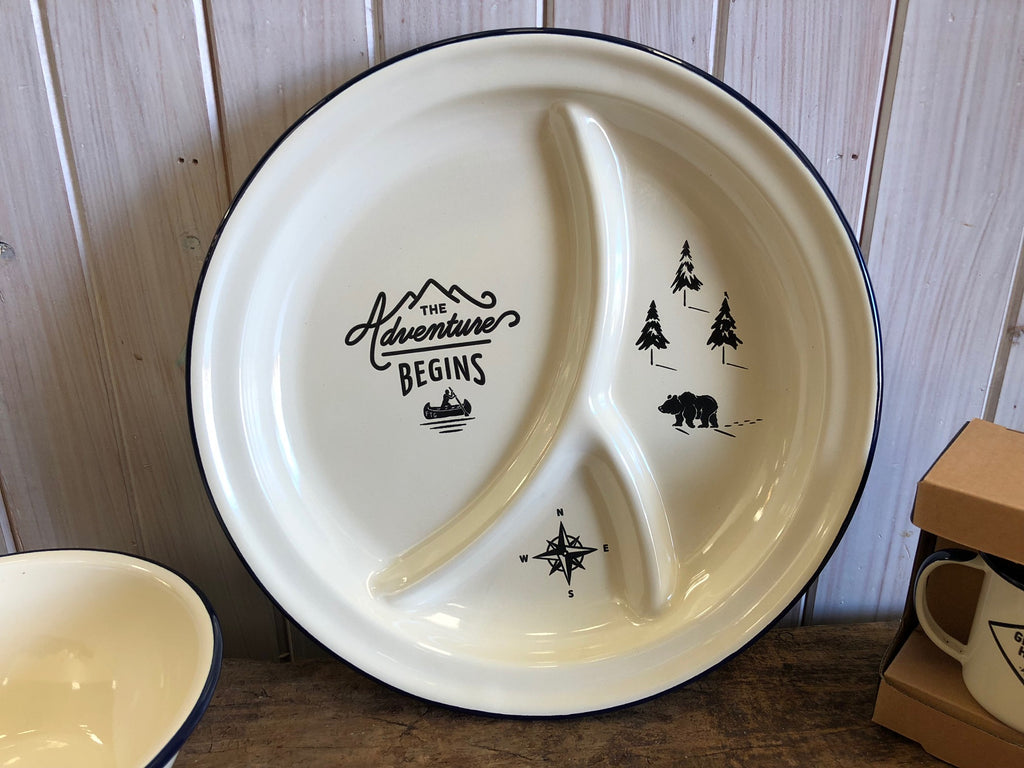 Enamel Divided Camping Plate