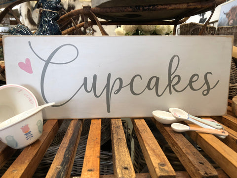 Cupcakes Handmade Sign