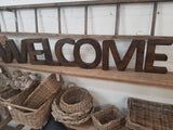 JUMBO Vintage Handmade 'WELCOME' letters by Opa's Shed Designs SAVE $140
