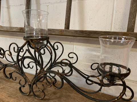 Metal Triple Candelabra Candle Holder