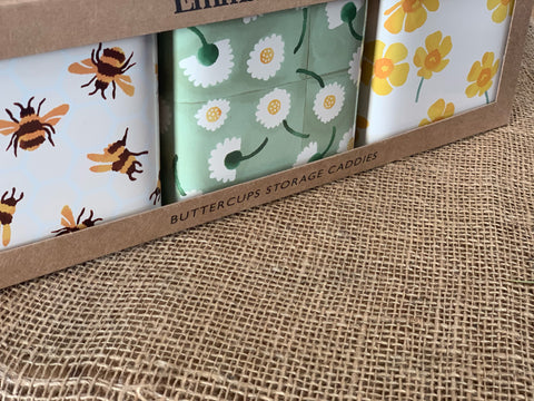BUTTERCUP Square canister set of 3