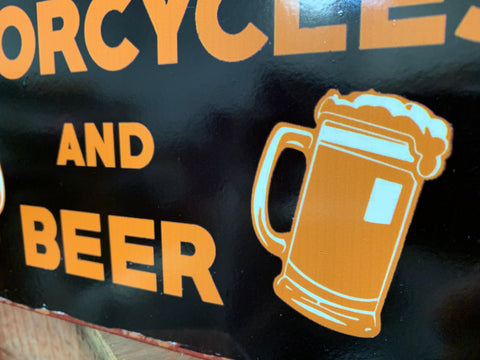 BIKES and Beer Tin Sign
