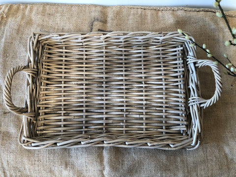 Rattan Rectangle Serving Tray