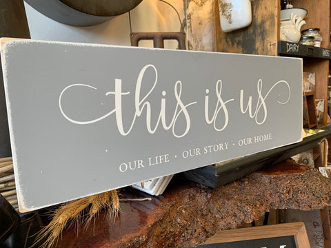 Our Life, Our Story, Our Home Handmade Sign