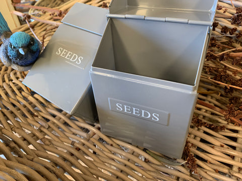 Small BIRD/ Veggies Seeds Tin