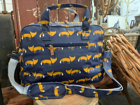 Navy FOX Overnighter Bag
