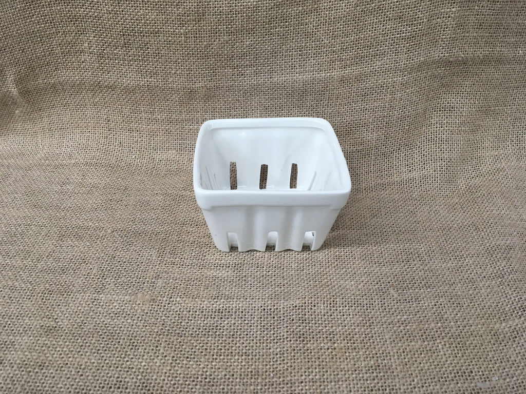 White ceramic hand made Crate