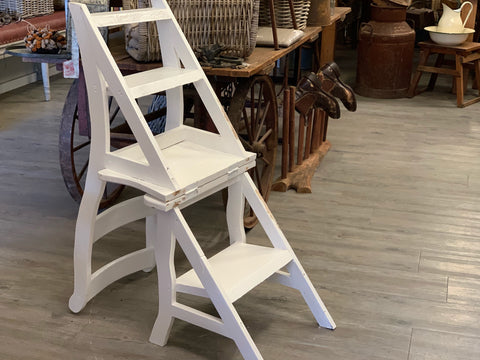 Handmade Timber Chair/Display Ladder