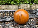 Set of 3 rusty garden sphere