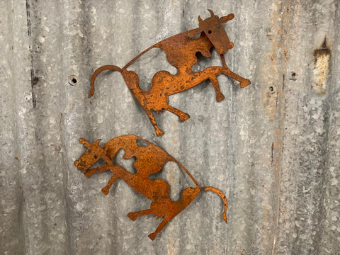 Iron MAGNETIC Rusty Cows