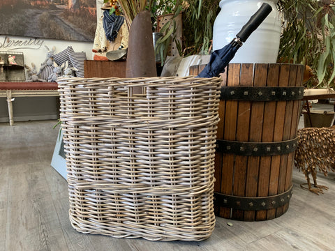 Rattan UMBRELLA Holder Basket
