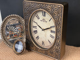 Pressed metal desk Clock