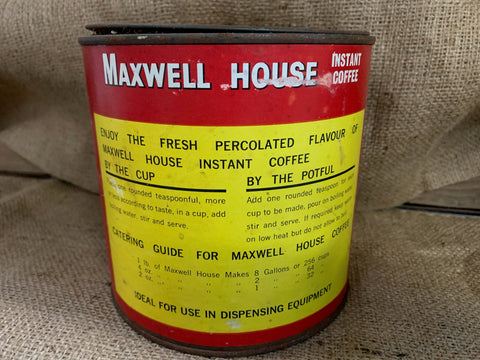 Vintage MAXWELL House Instant Coffee Tin