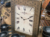 Pressed Metal JUMBO Clock GOLD