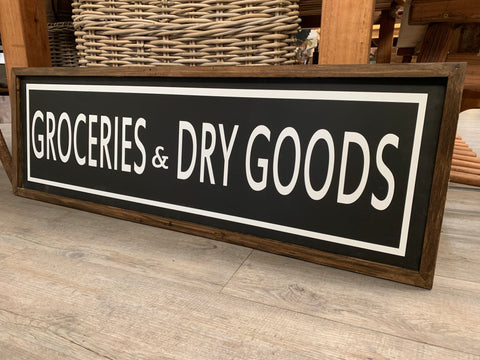 Groceries and Dry GOODS Sign