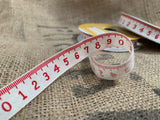 Cotton Red Measuring Tape RIBBON
