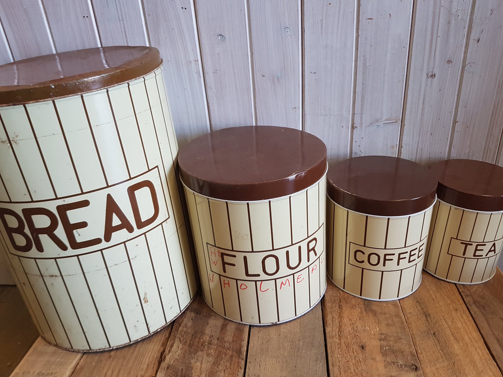 Brown and Cream Canister set of 4