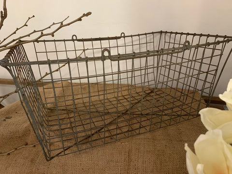Vintage Rectangular Wire Basket