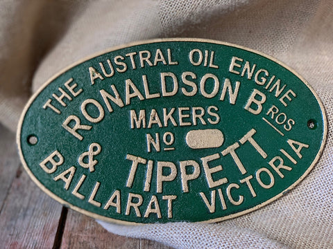 Cast Iron 'Ronaldson Tippett Sign
