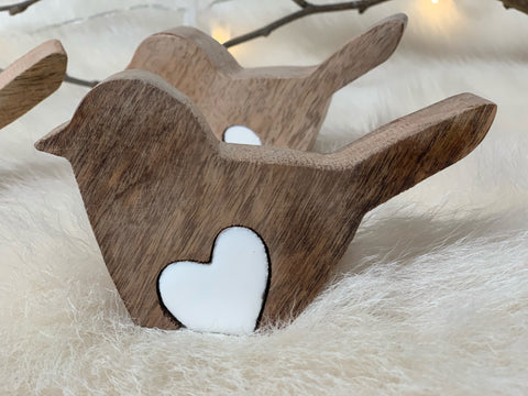 Wooden LOVE Bird PUZZLE Decor
