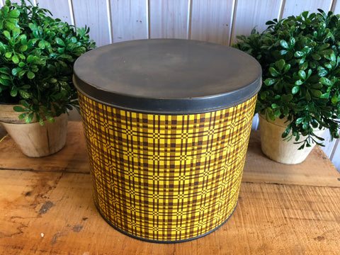 Yellow and Brown Tin
