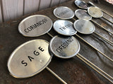 ZINC Herb Markers SET of 10