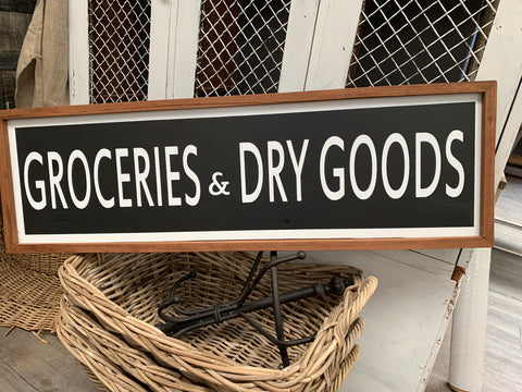 Groceries & Dry GOODS Handmade sign