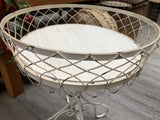 White Rustic Occasional Table