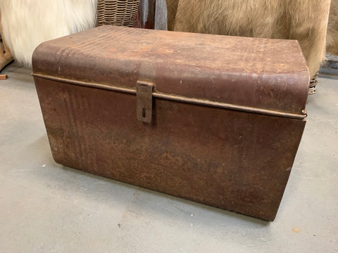 LARGE Brown Vintage Trunk