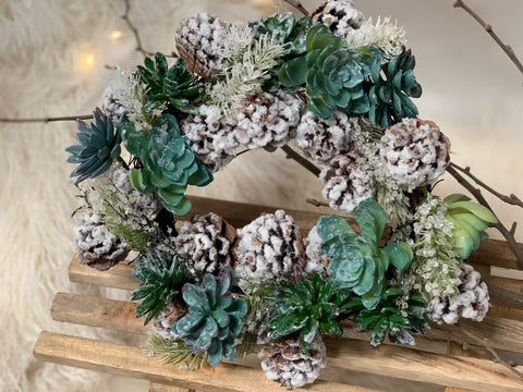 Xmas SUCCULENT Wreath