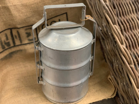 Vintage Aluminium Miners Meal Holder