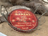 Holly Jolly's Wire Wooden TRAY
